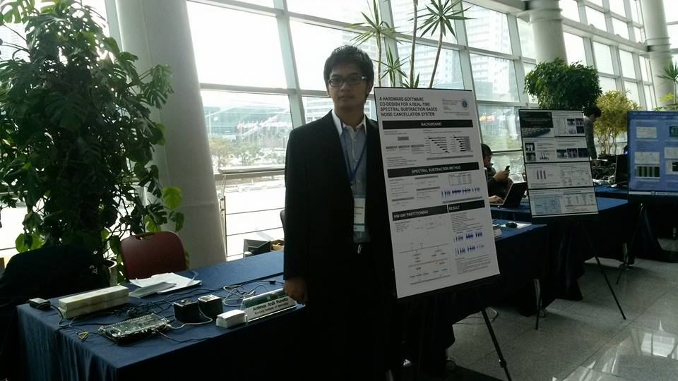 Ardimas, master student of ITB who joined short research program at JAIST