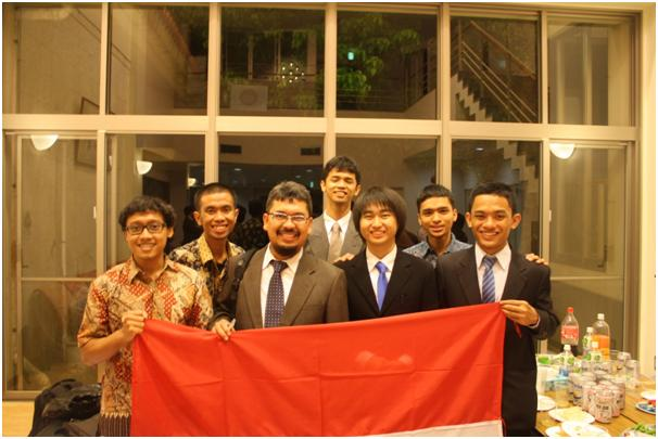 Two Electrical Engineering ITB teams with the advisor Trio Adiono, PhD