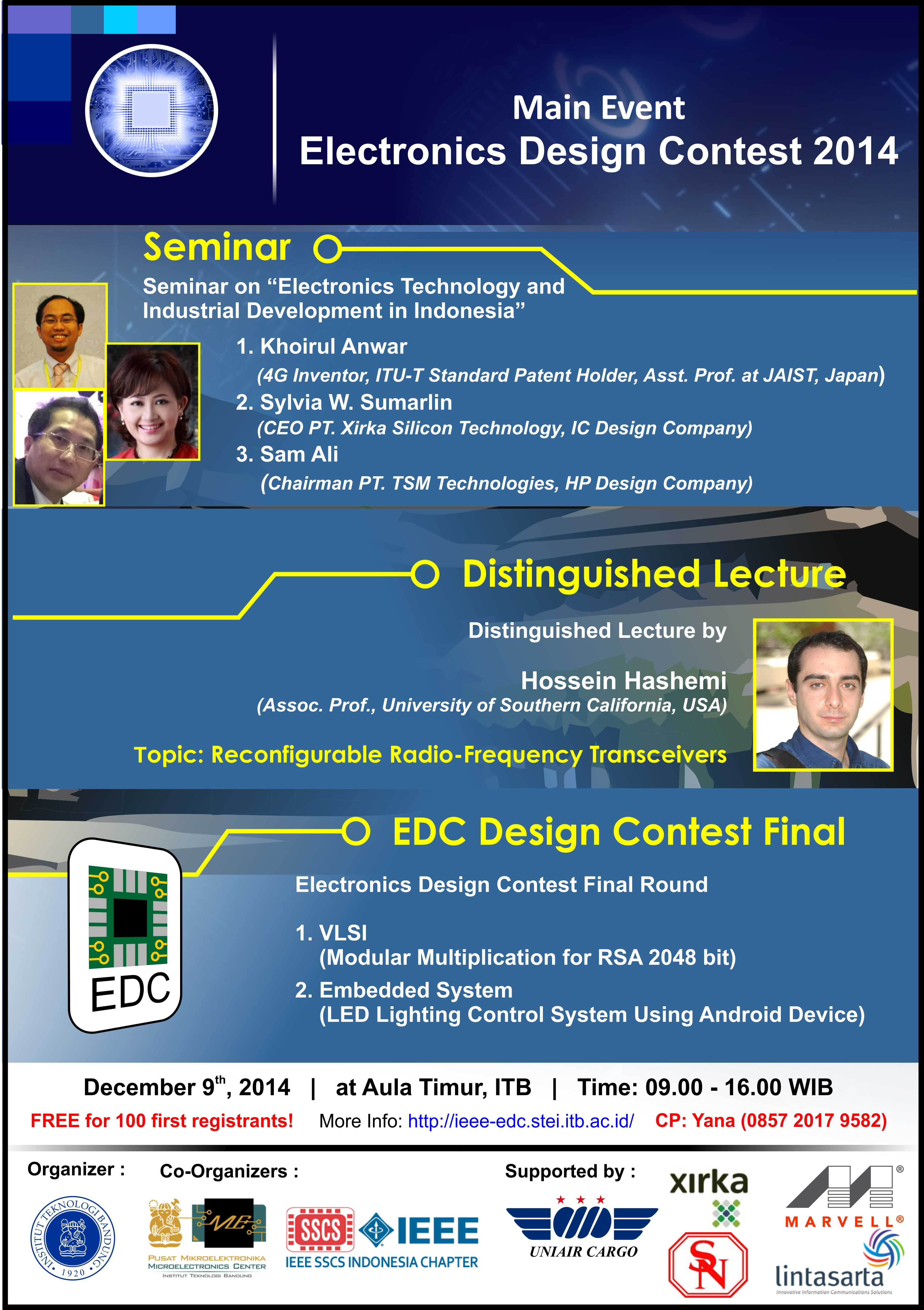 Seminar EDC 2014 & IEEE Distinguished Lecture