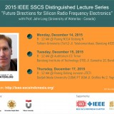 2015 IEEE Distinguished Lecture Series