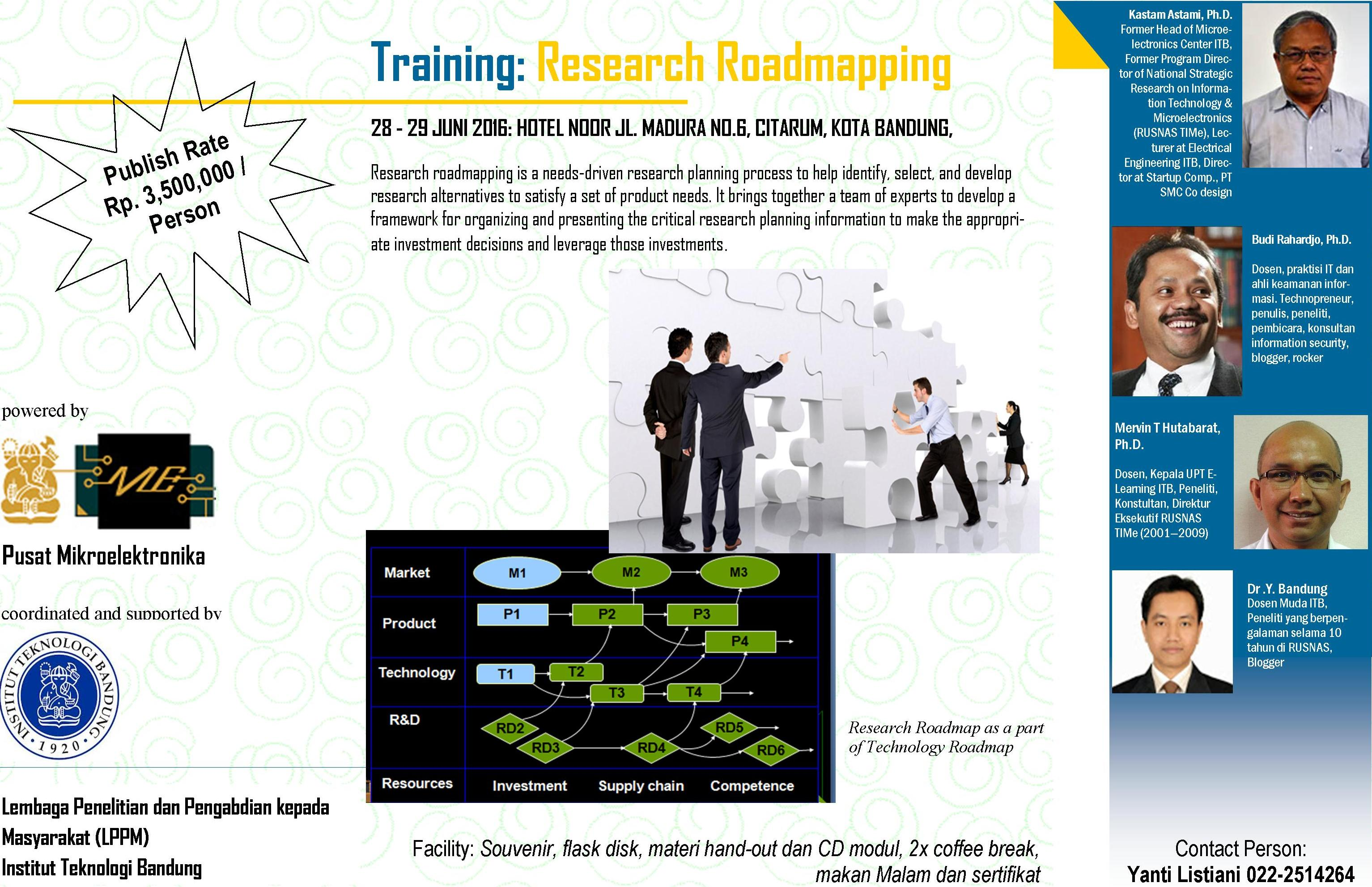 Training on Research Roadmapping