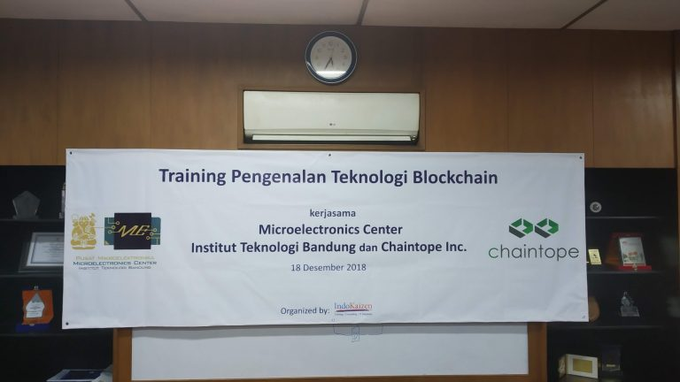 Training Pengenalan Blockchain oleh Microelectronics Center ITB dan Chaintope